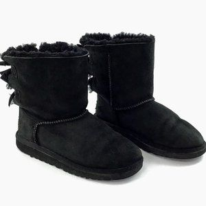 Ugg Australia Kids Ankle Sheepskin Leather Boots 3